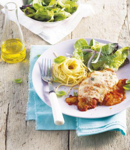 Recept voor Italiaanse kip parmigiana uit de oven