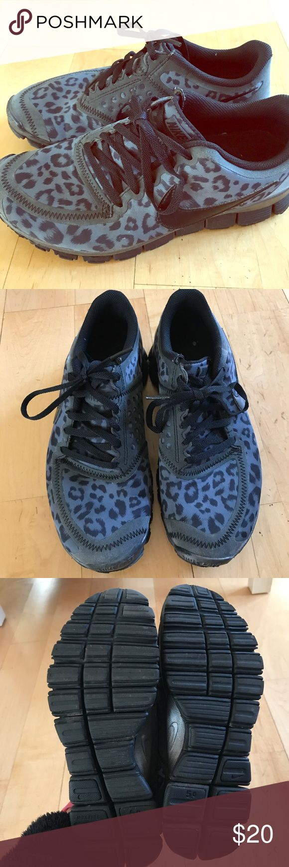 Leopard pink Nike shoes. Size 7.5 Leopard print Nike shoes. Size 7.5. Gently worn - still in good condition! Nike Shoes Athletic Shoes
