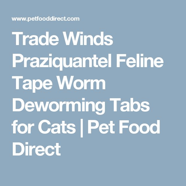 Trade Winds Praziquantel Feline Tape Worm Deworming Tabs for Cats | Pet Food Direct