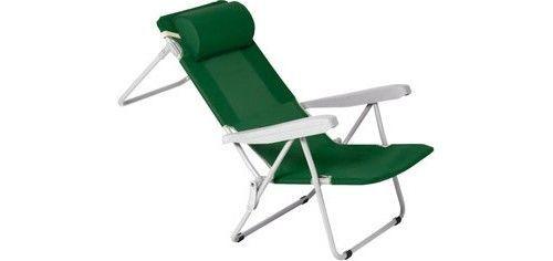 g.delre sedia sdraio imbottita pieghevole