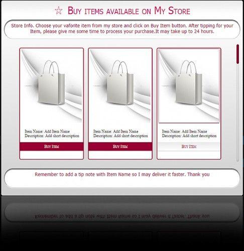 Store Widget for MyFreeCams-v5