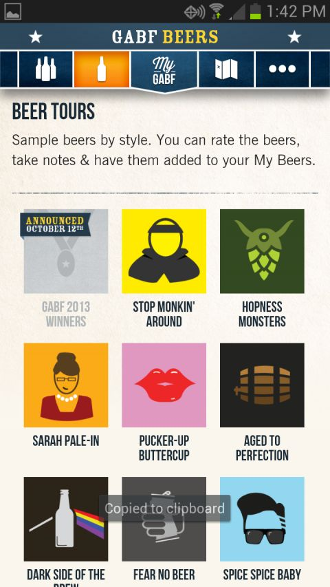 Taking a look at the GABF app - Denver off the Wagon