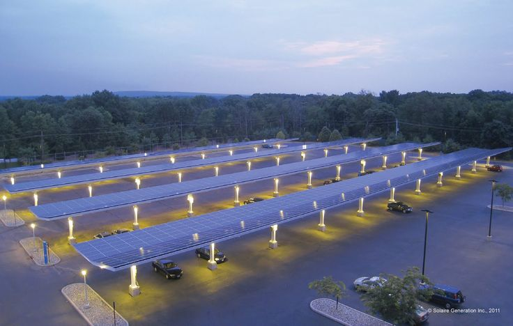 Solaire's Parking Canopies, a Cool parking lot