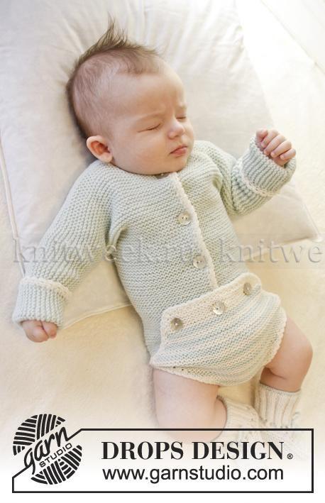 Боди спицами для новорожденного с длинным рукавом