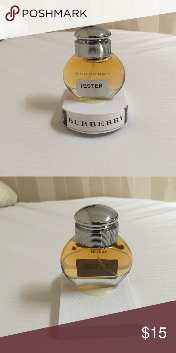 NEW BURBERRY PERFUME TESTER THIS A NEW STORE TESTER THAT HAS NEVER BEEN USED. I DO NOT KNOW HOW MANY OUNCES IT IS BECAUSE IT IS NOT LISTED Burberry Other