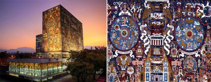 Universidad Nacional Autónoma de México / Nu mai puțin de 60 de arhitecți, ingineri și artiști au participat între anii 1949-1952 la construirea uneia dintre cele mai frumoase universități din America Latină, Universidad Nacional Autónoma de México