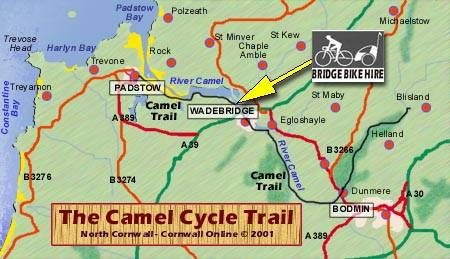 Camel Trail, Cornwall UK. One of the most popular recreational routes in the country, runs from Padstow to Poley's Bridge, via Wadebridge and Bodmin. 16 miles of traffic-free cycling.