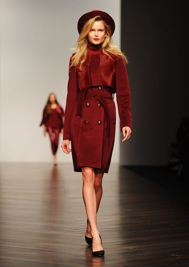 trench coat fashion tumblr | Fashion by Getty Images Blood red