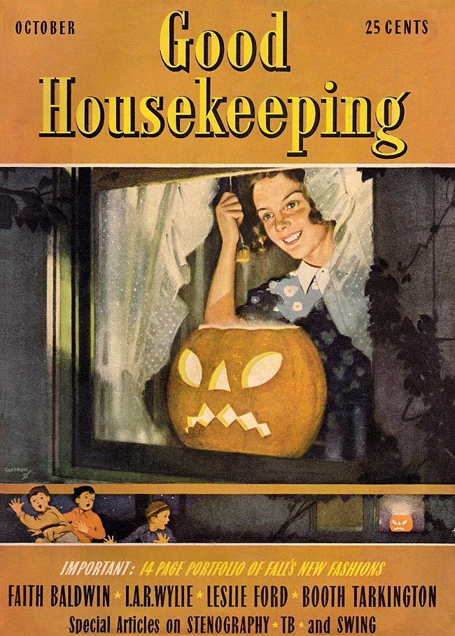 Vintage Halloween Magazine ~ Good Housekeeping ©1938