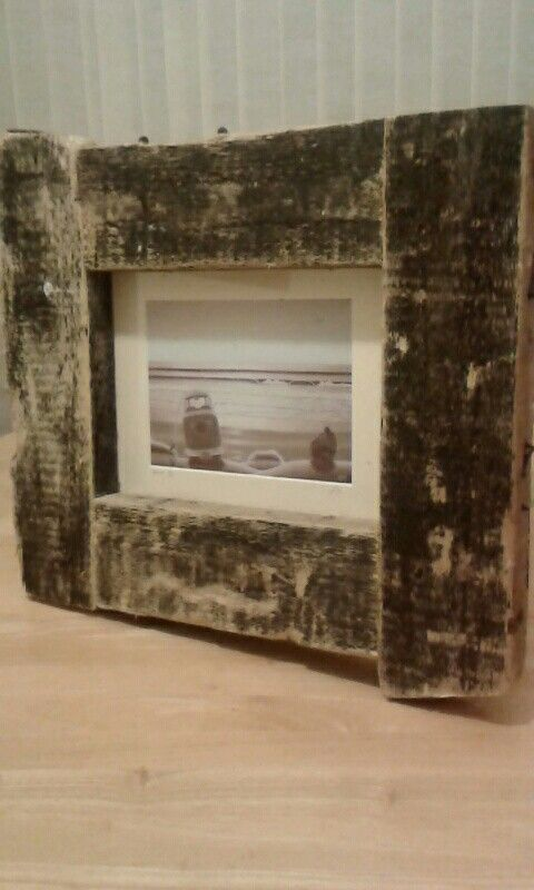 Frame made from driftwood