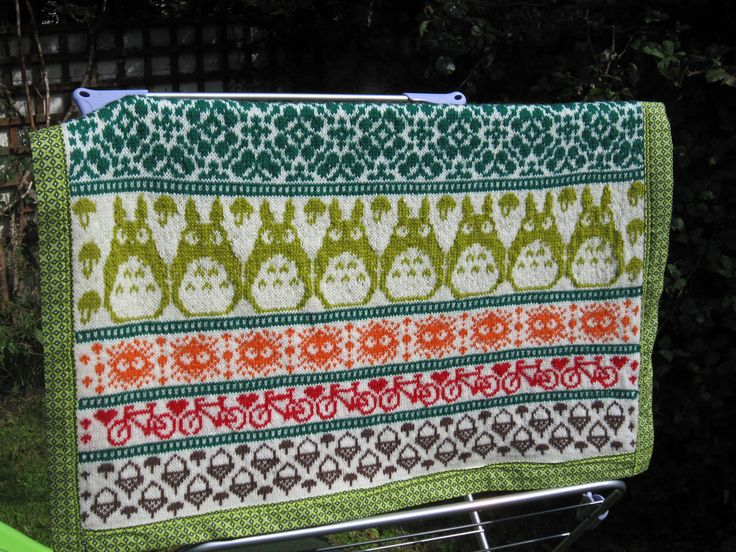 Ravelry: Skirtyfyde's Totoro Inspired Latvian Garden Blanket