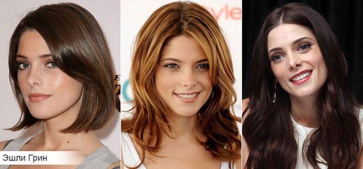 Как подобрать стрижку для густых волос на примере Эшли Грин