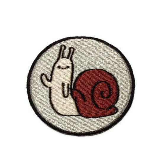 Iron on Adventure Time Hidden Snail embroidered patch. $6.00, via Etsy.