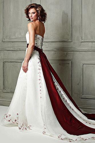 169 best Red/Red & White Wedding Dress images on Pinterest ...