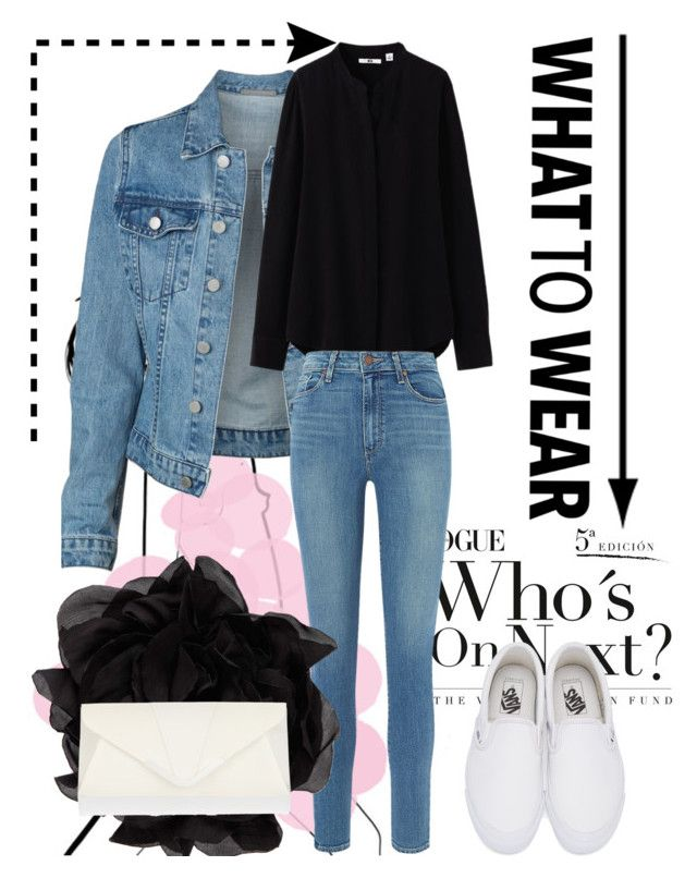 """""""party#7"""" by tanttu-haapop on Polyvore featuring Uniqlo, Paige Denim, Vans, Lanvin and Accessorize"""