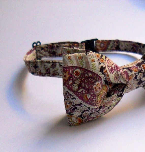 Mens bow tie cashmere pattern summer weddings christmas