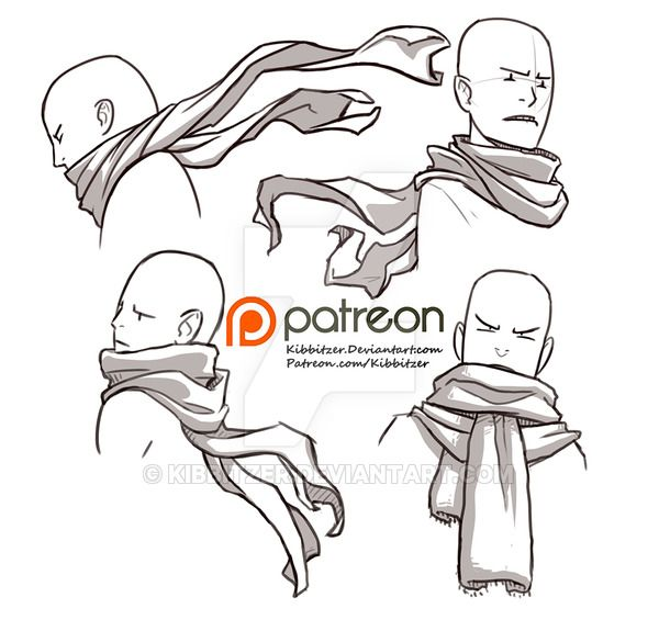 I always tried to draw a scarves reference sheet...I TRIED SO MANY TIMES I SWEAR. But I always threw everything in the trash. THEY ARE THE WORST THING IN THE WORLD HNNNNNG!!! BUT NOW I DID IT....