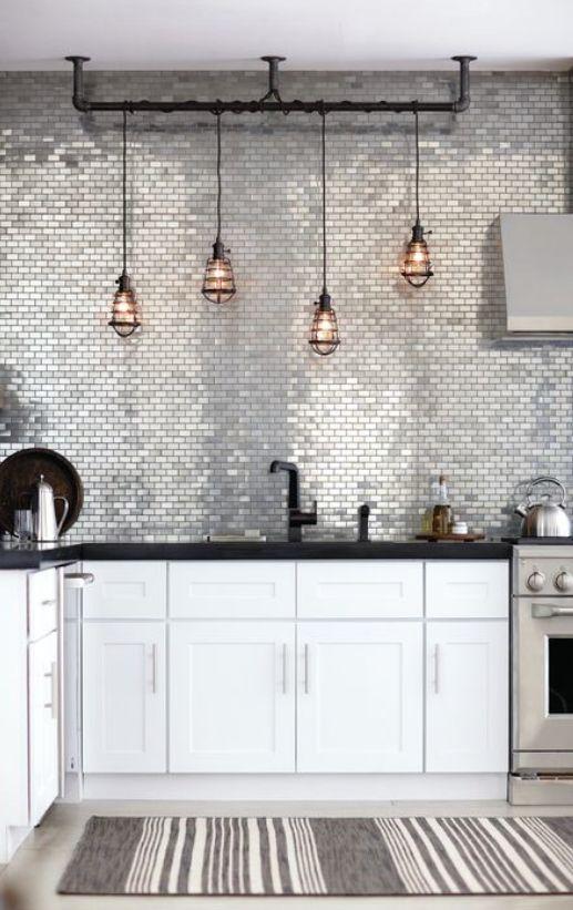 UN'ESTATE IN GRIGIO / HomeKooKoo фартук на кухню+ лампы