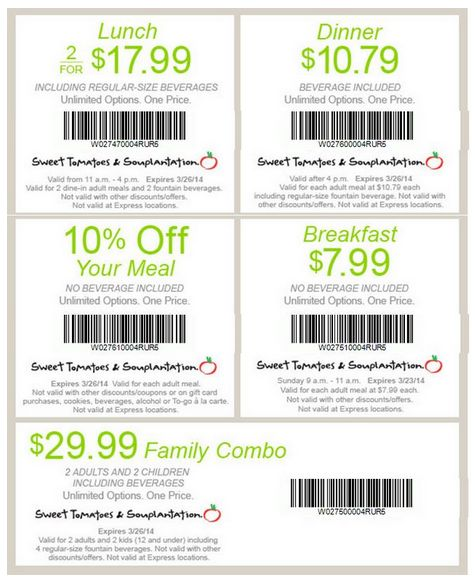 Like Souplantation coupons? Try these...