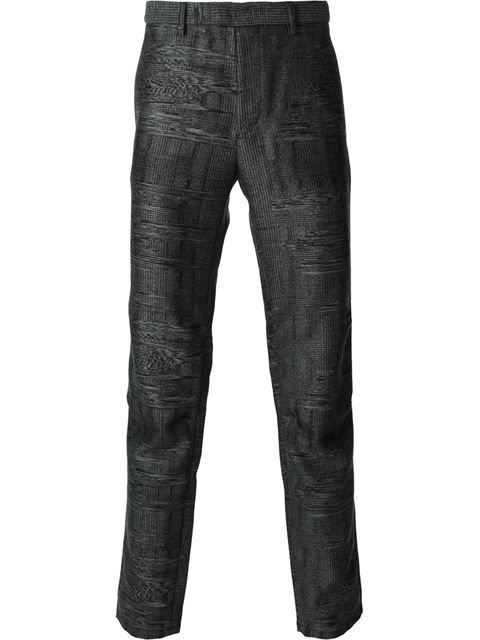 Shop Iceberg elasticated back waist printed trousers in Jean Pierre Bua from the world's best independent boutiques at farfetch.com. Over 1000 designers from 60 boutiques in one website.