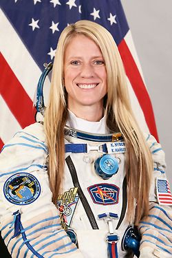NASA Astronaut @Karen Jacot Jacot Jacot Nyberg will be in space at the 50th anniversary of women in space. Go Karen! - Expedition 36/37 portrait of Karen Nyberg. Credit: Gagarin Cosmonaut Training Center