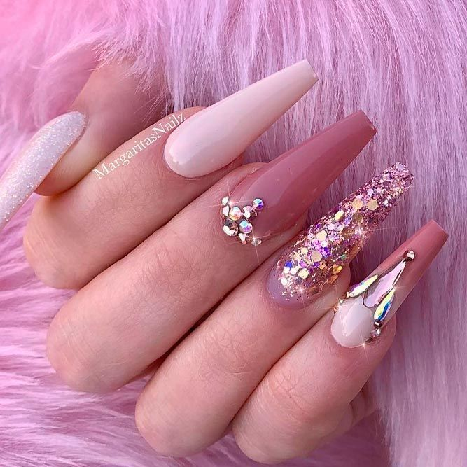 Impressive Ways To Introduce Mauve Color Into Your Fancy Mani Mauve Nails Rose Pink Nails Pink Acrylic Nails