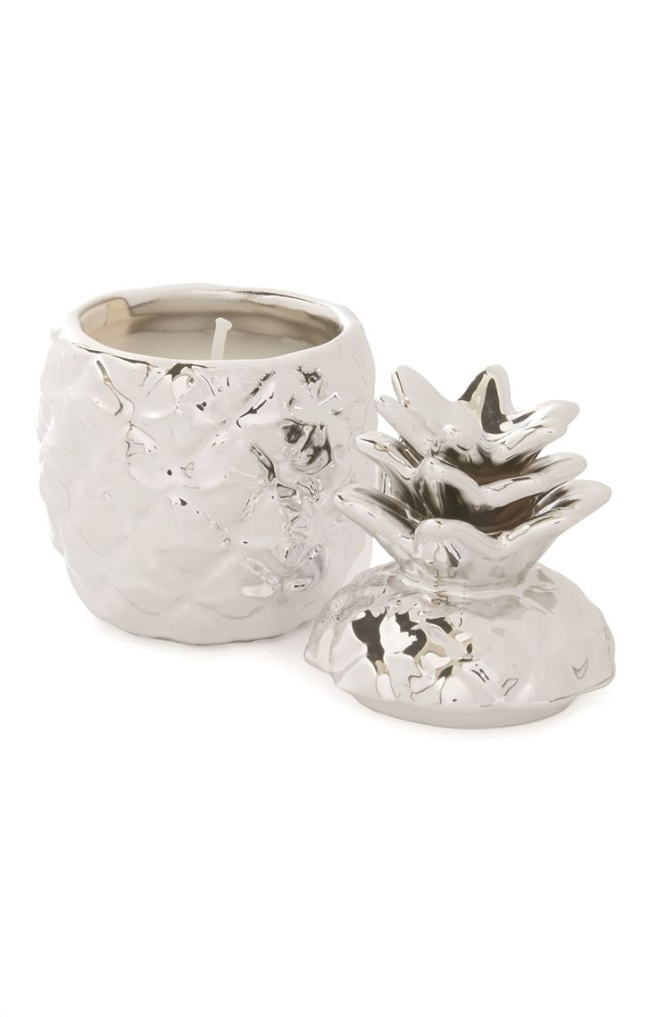 Pineapple Verbena Silver Candle