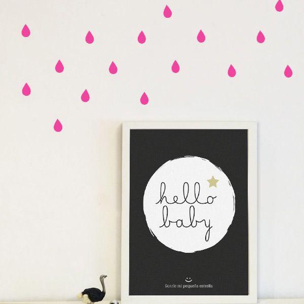 Gotitas de lluvia habitación bebé