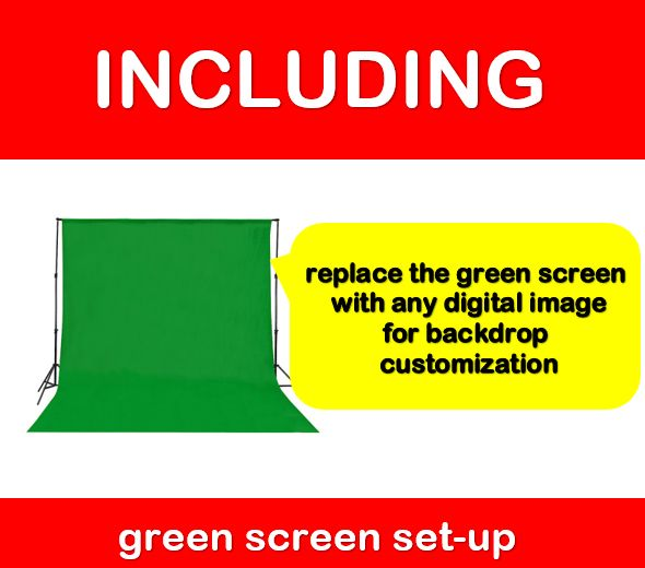 cheap photo booth hire Melbourne deal including green screen set-up