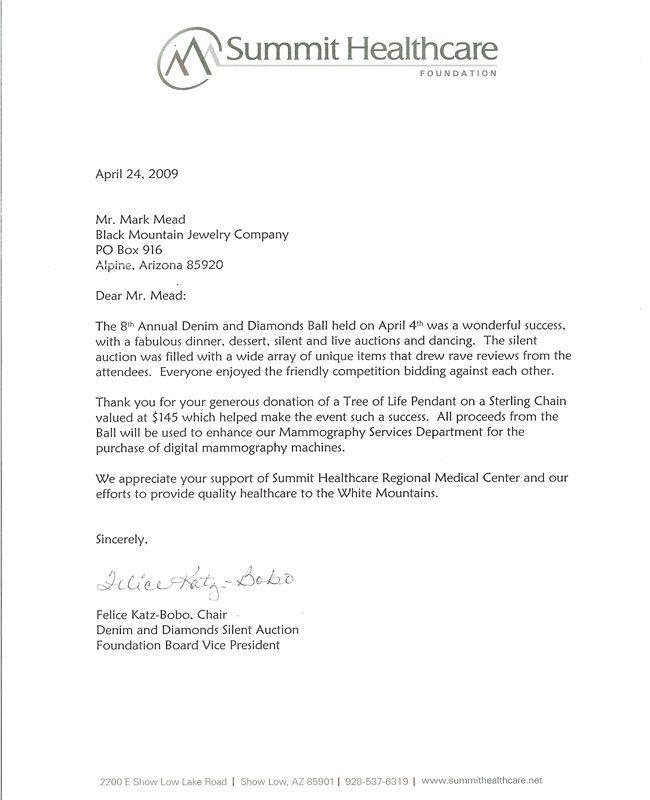 silent auction donation request letter