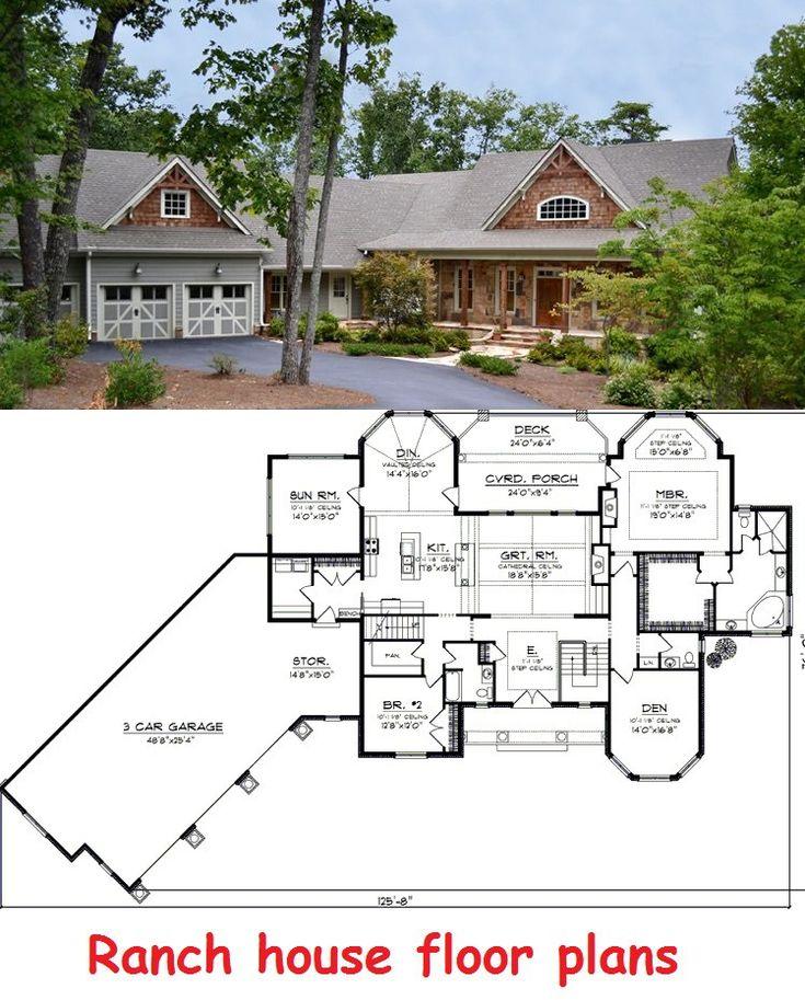 Ranch House Floor Plans Home Design Advisor Pinterest