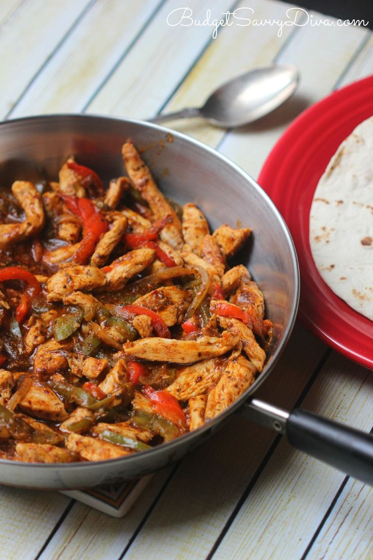 Chicken Fajita Recipe..look up ingredients of McCormick mix and make my own.