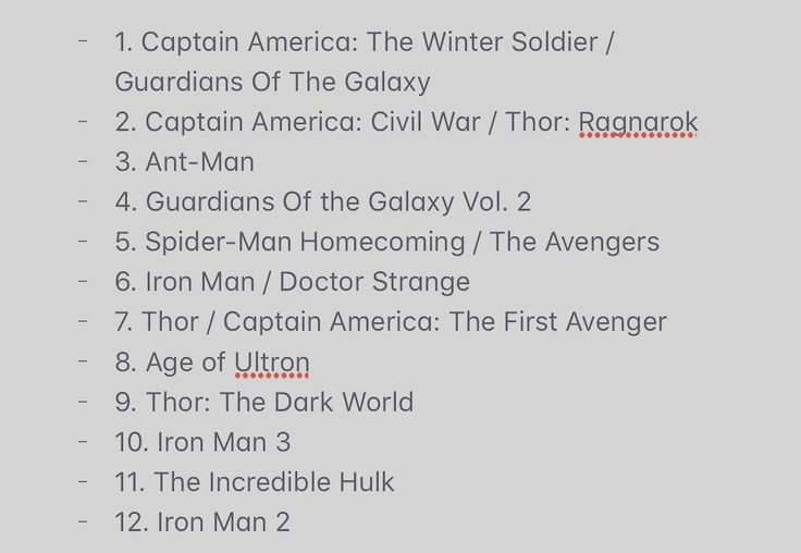 Took some time to rank my fav MCU movies after Thor Ragnarok release. Wondered how everyone elses looked!