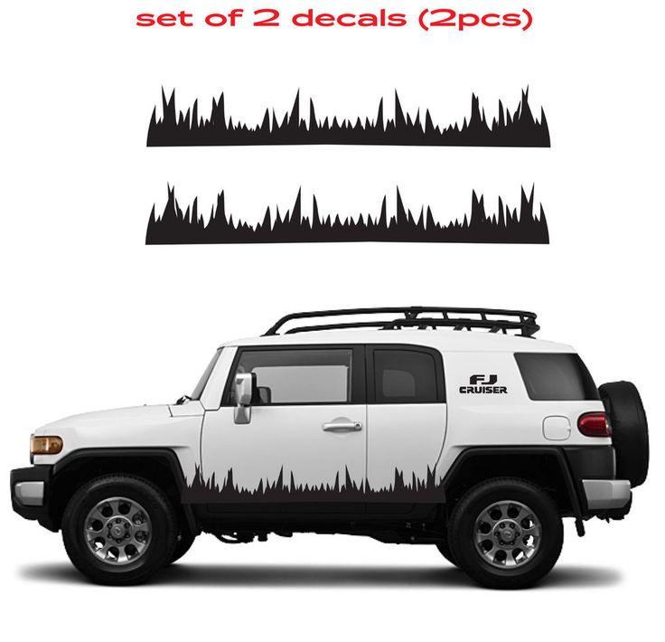 Toyota Fj Cruiser Grass Mountain 4 Runner Decal Vinyl Side