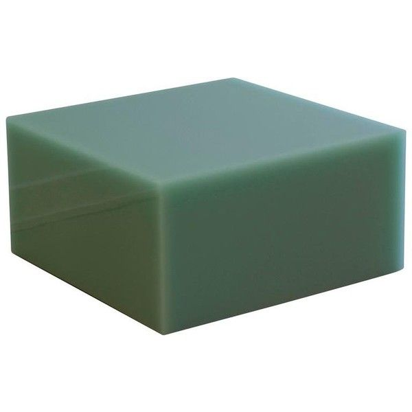 Candy Cube In Mint Green, Side Table ($3,984) ❤ liked on Polyvore featuring home, furniture, tables, accent tables, grey, sofa tables, mint green furniture, gray table, grey end table and grey side table