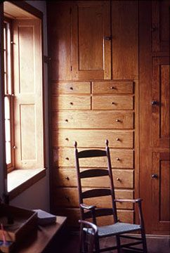 Such beautiful built-in cabinets and dresser {Hancock Shaker Village - Photo by Carleton Meyers}