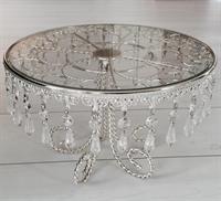 """Kakefat Rund Sølv """"Crystal"""", 30cm"""