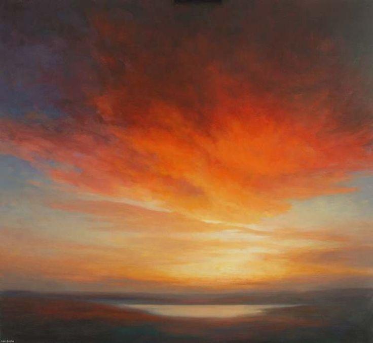 Sunset Oil Painting - Sunshine of the Light of Letters #OilPaintingSunset
