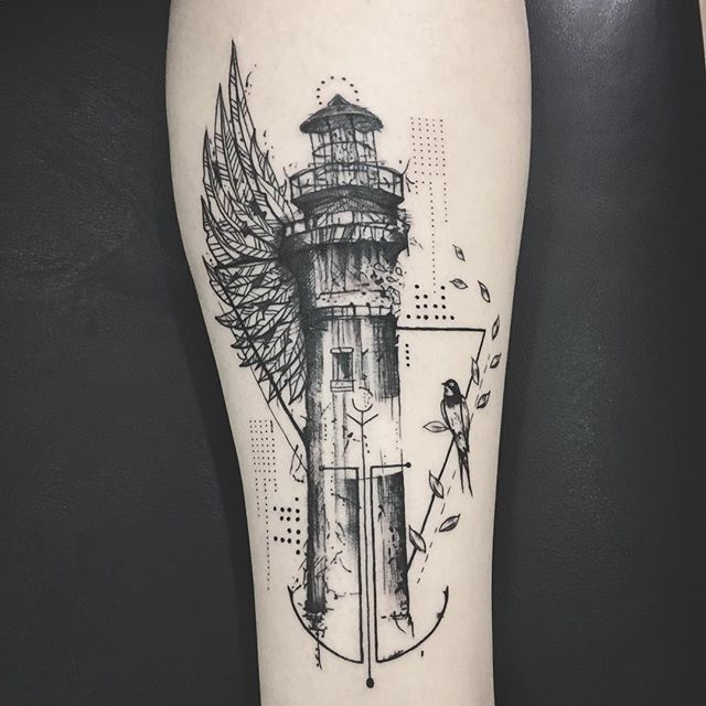Resultado de imagen para simple lighthouse tattoo