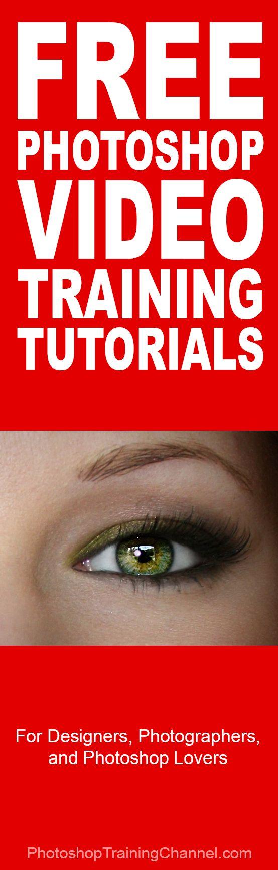 The best Free Photoshop video training http://photoshoptrainingchannel.com