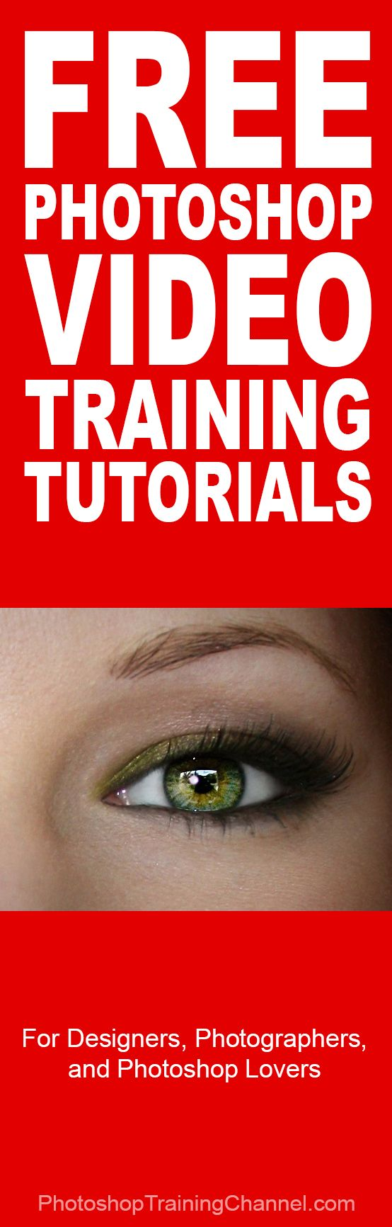 The best Free Photoshop video training tutorials - www.photoshoptrainingchannel.com