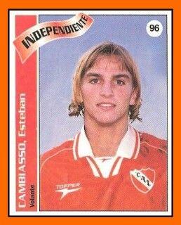 Esteban Cambiasso of CA Independiente in 1997.