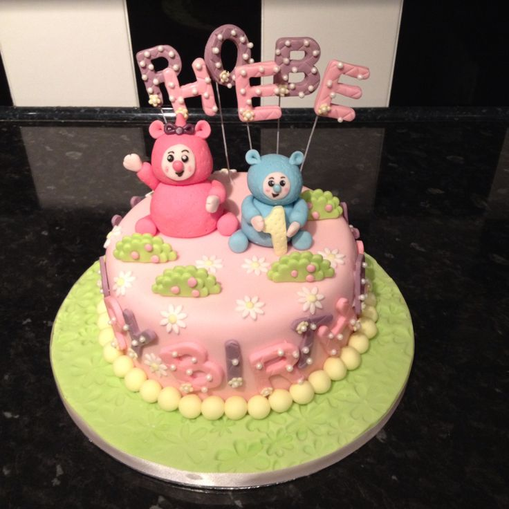 Billy and Bam Bam baby TV birthday cake