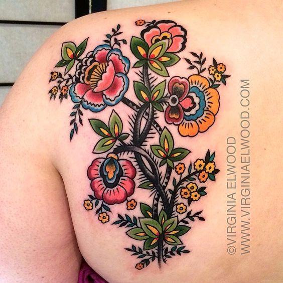 Best Shoulder Tattoo Flowers Ideas On Pinterest
