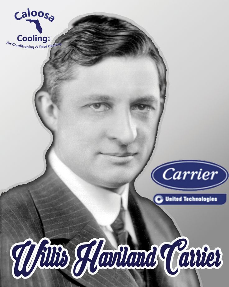 Willis Havilland Carrier, an American engineer who invented the first electrical air conditioning unit in 1902. Founder of Carrier Corporation, company specializing in the manufacturing and distribution of ventilating, heating, and air conditioning HVAC systems.
