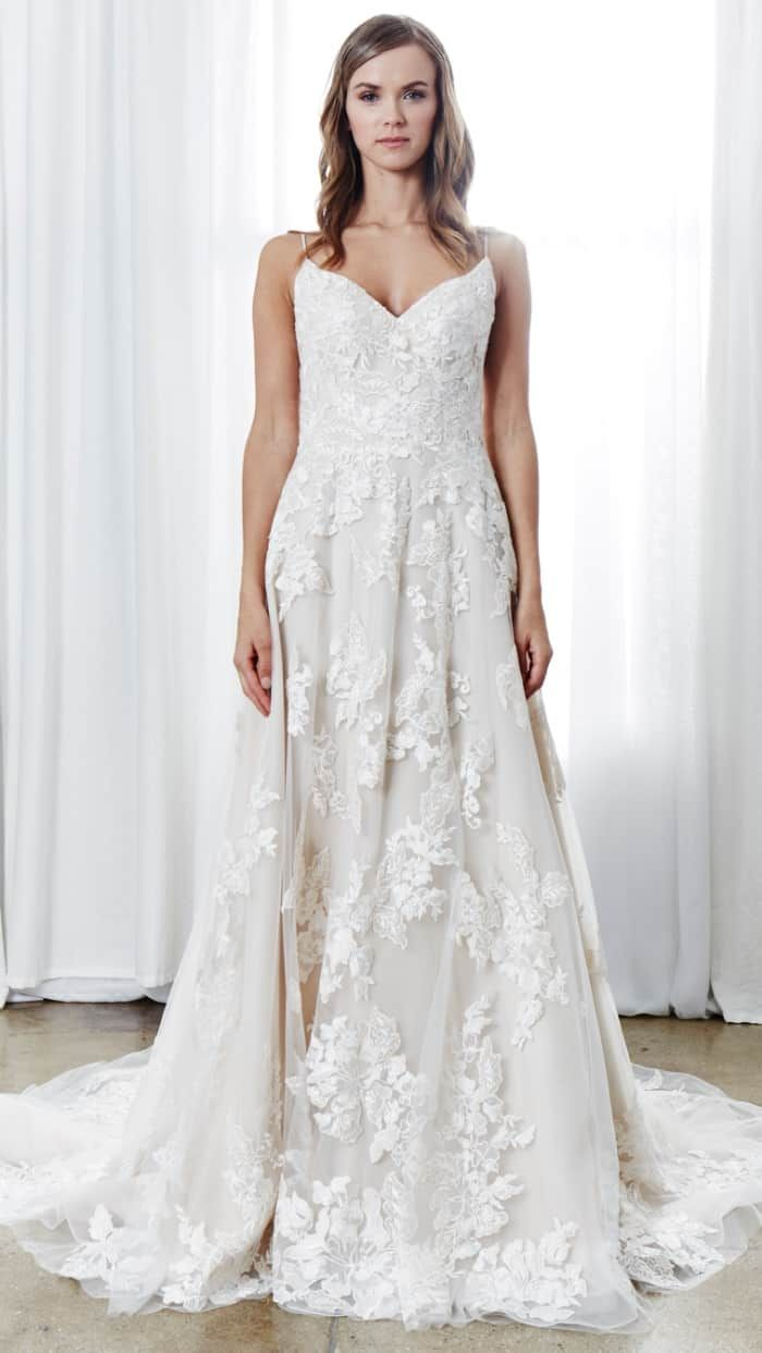 Lace over tulle wedding dress january 2019 Kelly Faetanini Wedding Dresses Spring   Wedding gown