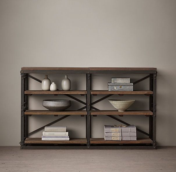 Restoration Hardware Console Table: RH's French Library Console:A Reproduction Of A Mid-1940s