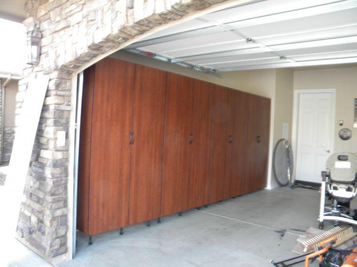 The 25 best brown garage furniture ideas on pinterest for Wood veneer garage doors