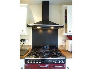 Rangemaster Black Extractor Hood and Black Splashback Sale Picture 1