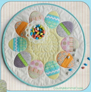 QUILTED EASTER RUNNER PATTERN | FREE Quilt Pattern